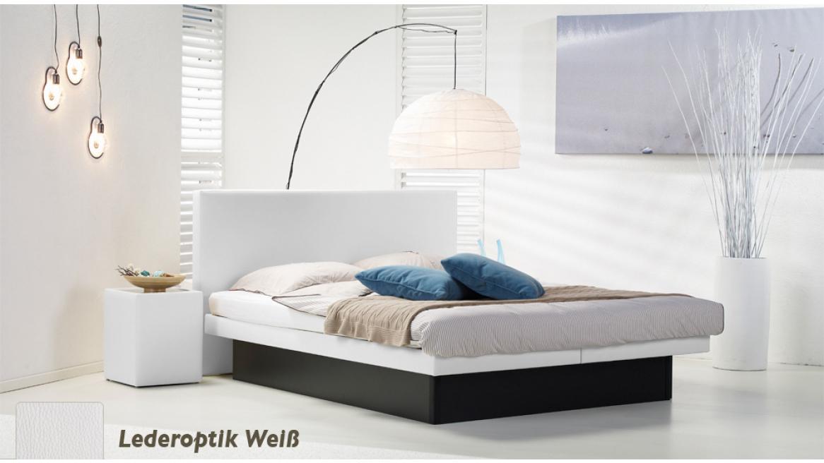wasserbett luxus pro podest lederoptik weiß