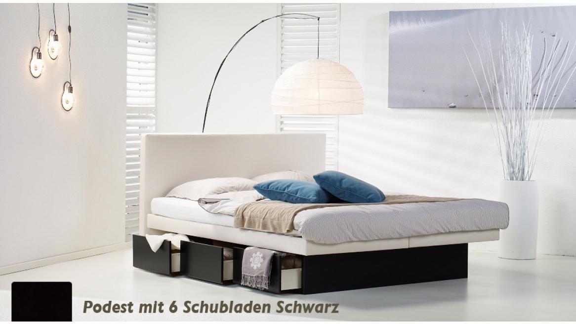wasserbett luxus pro podest mit 6 schubladen schwarz beispiel