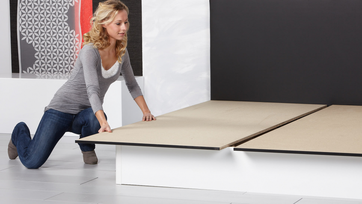Wasserbett Basic Bodenplatte anbringen