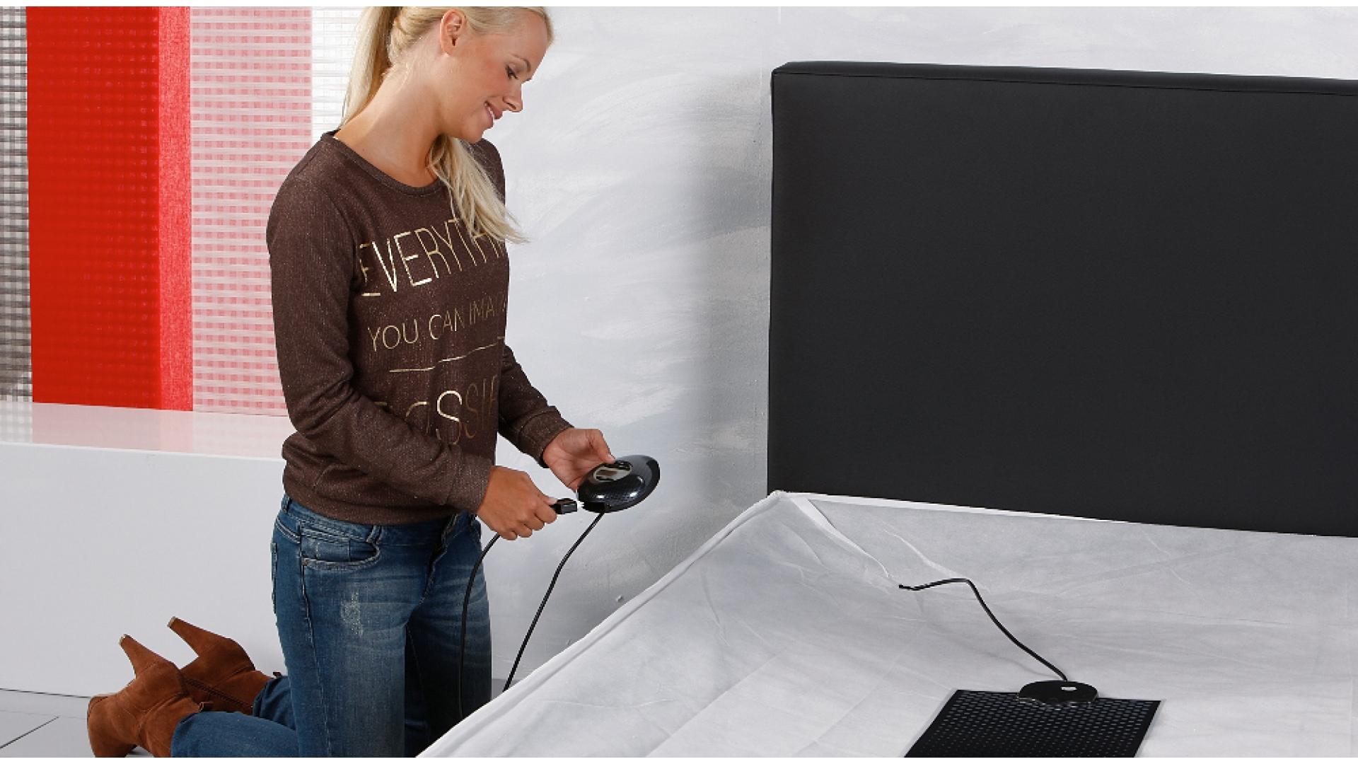 Wasserbett Heizmatte Carbon IQ Digital an den Thermostat koppeln