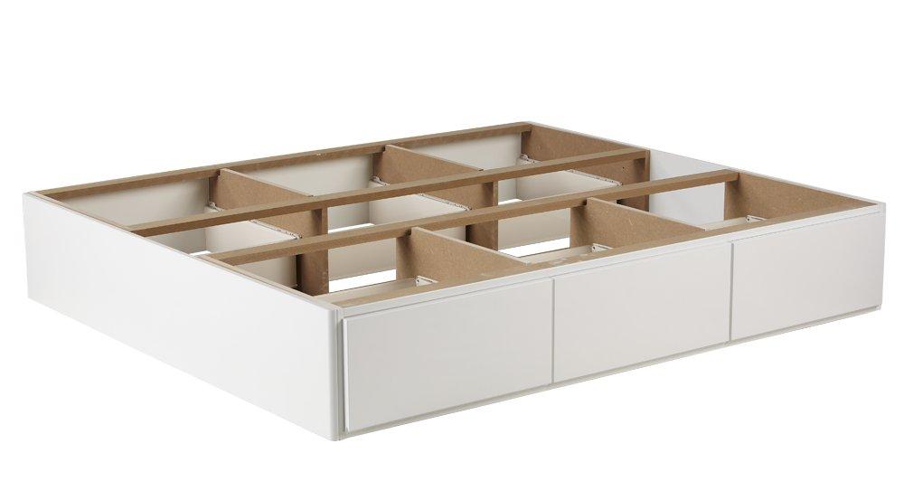 Wasserbett-Podest mit 6 Schubladen in Weiß