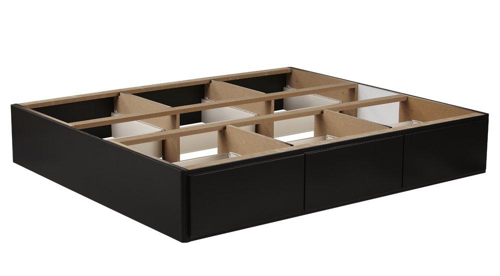 Wasserbett-Podest mit 6 Schubladen in Schwarz