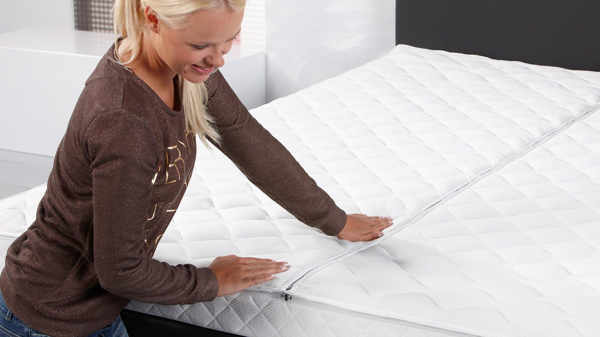Luxus-Klima-Doppeltuch-Wasserbettbezug mit nicht spürbarem Reißverschluss